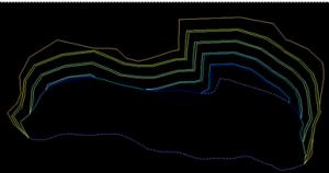 Expand segment terakhir ke topografi Dengan Surpac