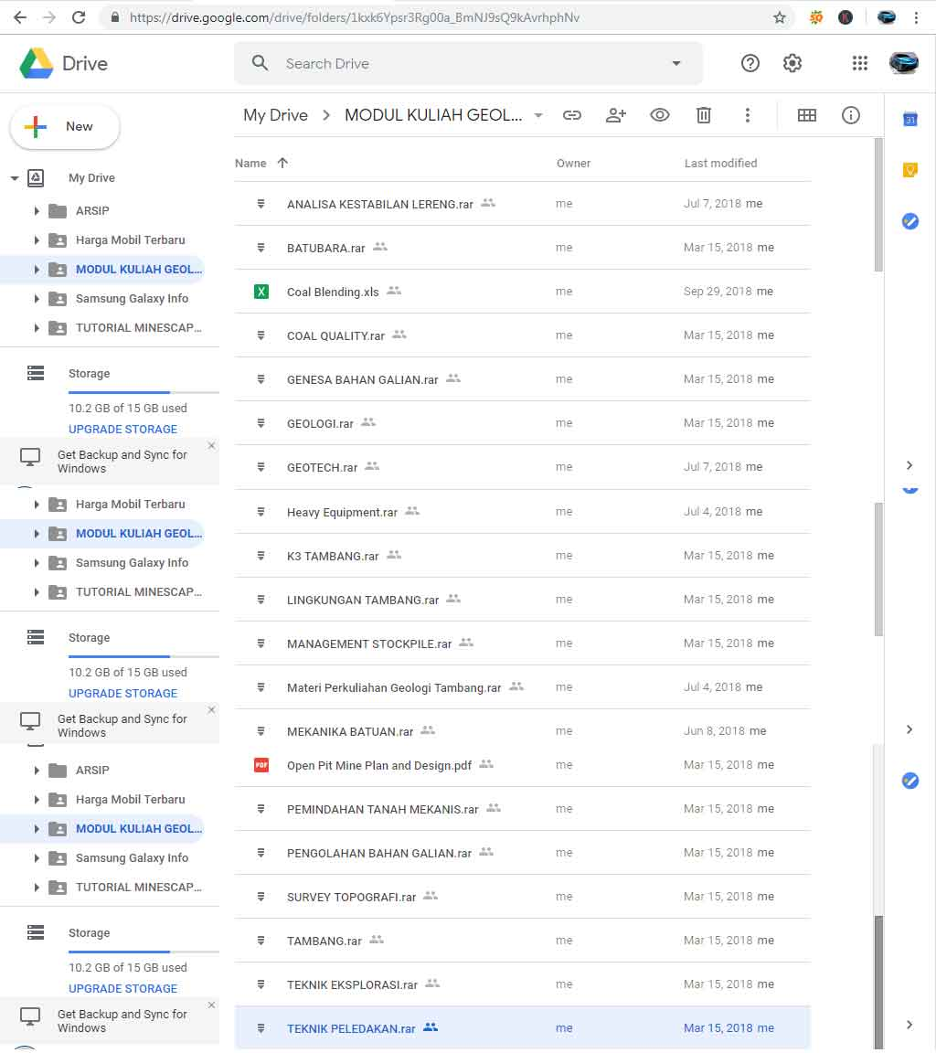 Modul Kuliah Geologi Tambang - File Google Drive