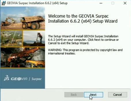 Install Geovia Surpac v6.6.2 64 bit Crack