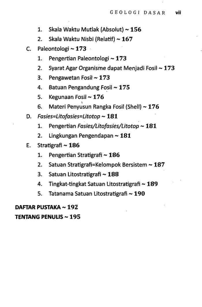 Daftar Isi Geologi Dasar