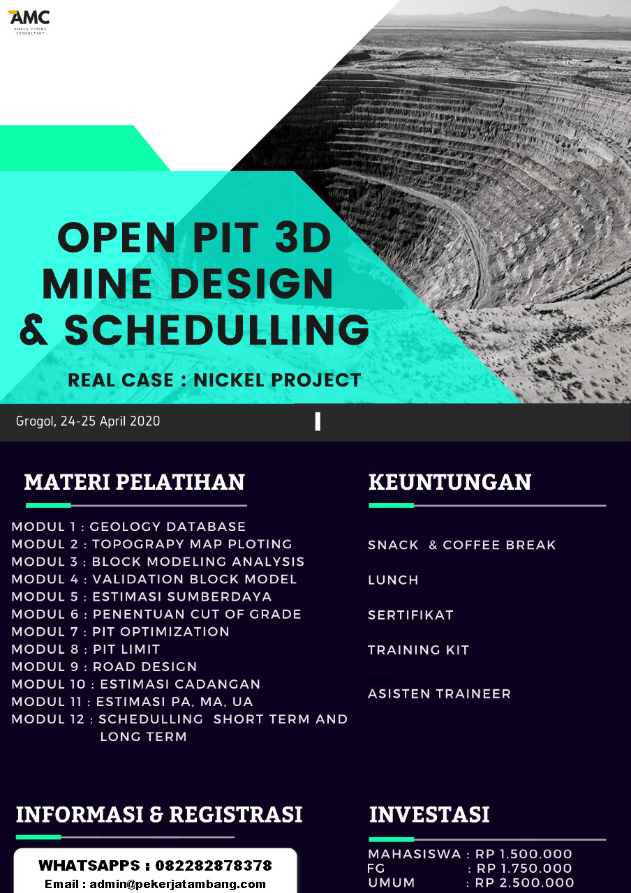 Workshop Open Pit Mine Design & Schedulling