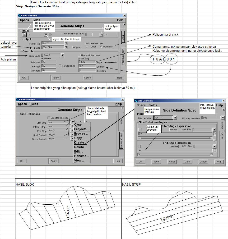 Buat STRIP & BLOK - Pit Optimizing Minescape