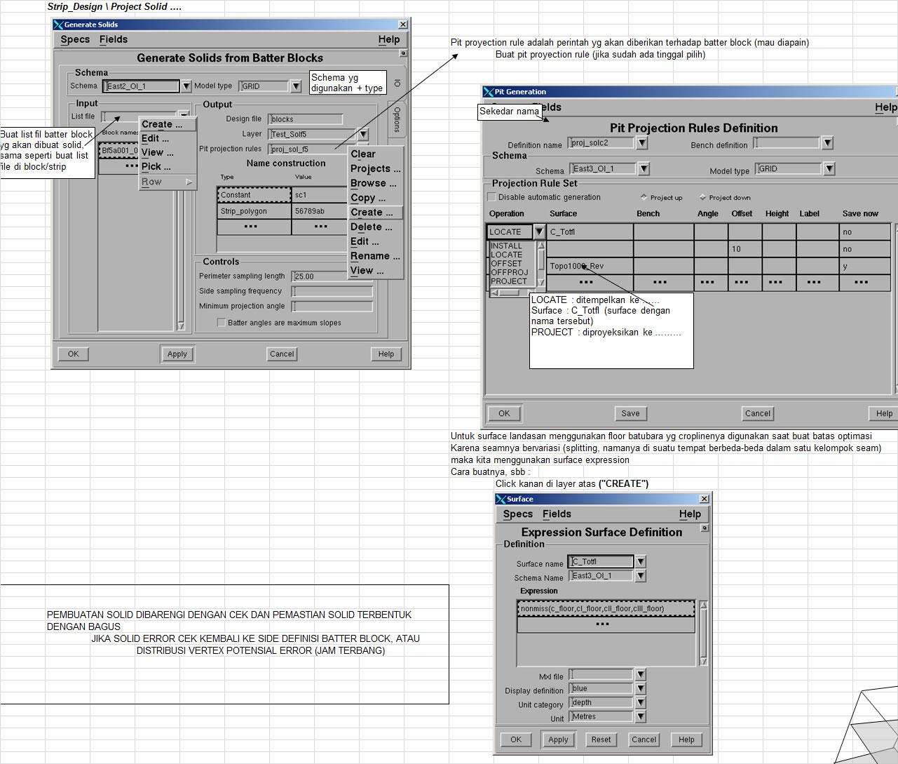 Hitung Volume per Blok - Pit Optimizing Minescape