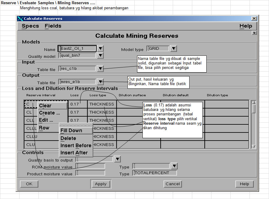 Menghitung Reserves - Pit Optimizing Minescape