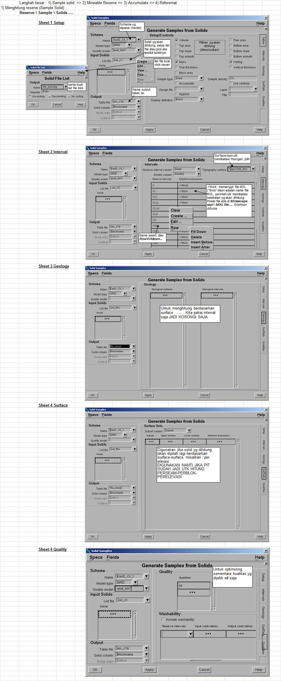Menghitung Volume Reserves - Pit Optimizing di Minescape
