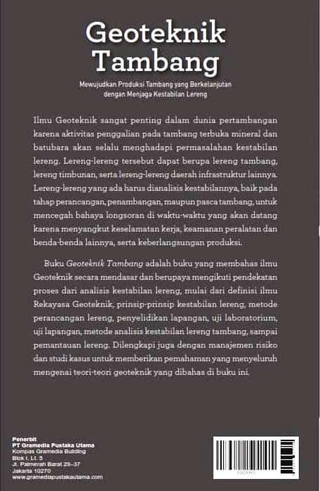 Buku Geoteknik Tambang