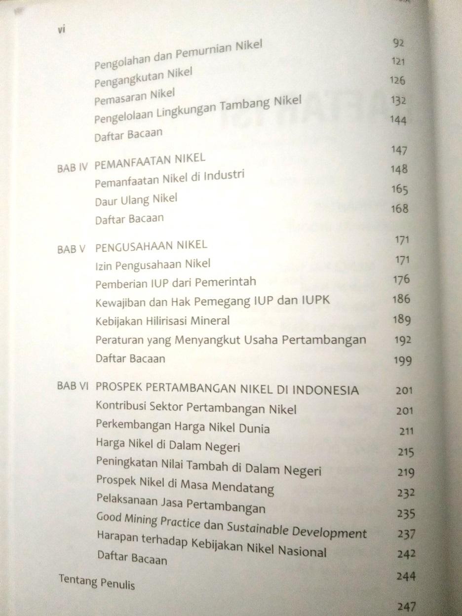 Daftar Isi Buku Nikel Indonesia