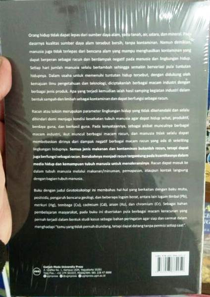 Buku Geotoksikologi Karya Sukandarrumidi, dkk