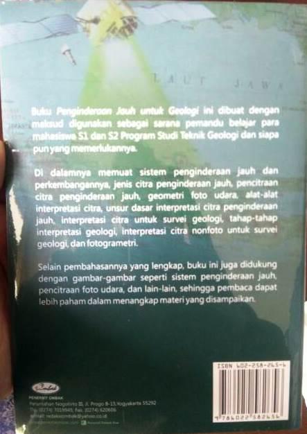 Buku Penginderaan Jauh Untuk Geologi Karya Ir. Soetoto