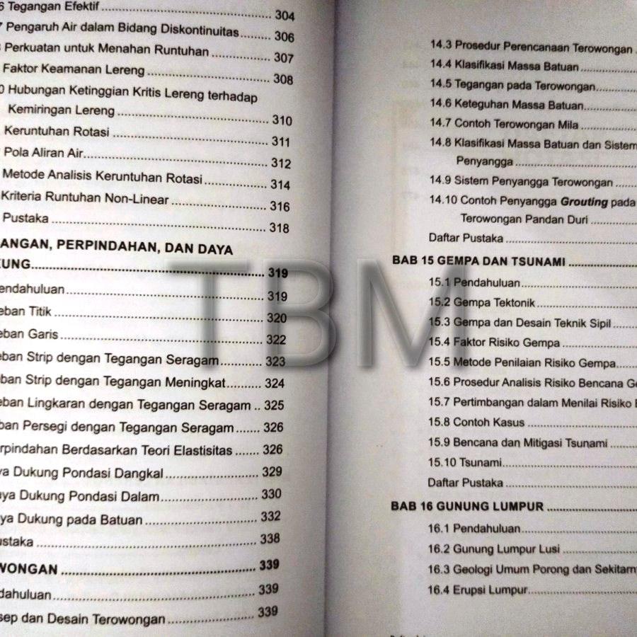 Daftar Isi Buku Geologi Teknik Penerbit Andi