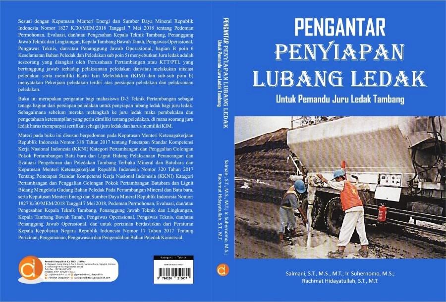 Buku Pengantar Penyiapan Lubang Ledak Untuk Pemandu Juru Ledak Penerbit Deepublish