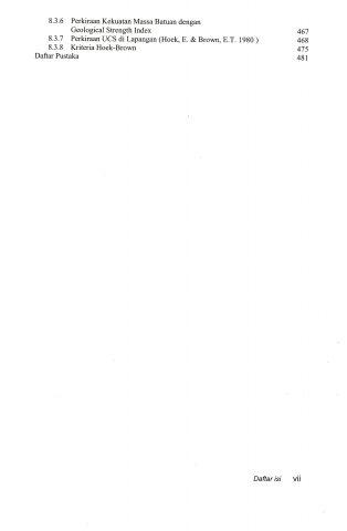 Daftar Isi Mekanika Batuan Penerbit ITB Press