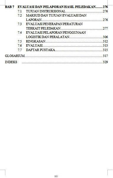 Daftar Isi Pengantar Penyiapan Lubang Ledak Untuk Pemandu Juru Ledak