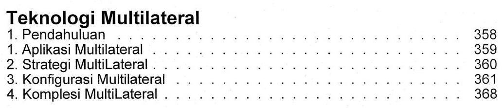 Bab 11 Daftar Isi Buku Teknik Pemboran Horizontal & Multilateral Rudi Rubiandini Terbitan ITB Press