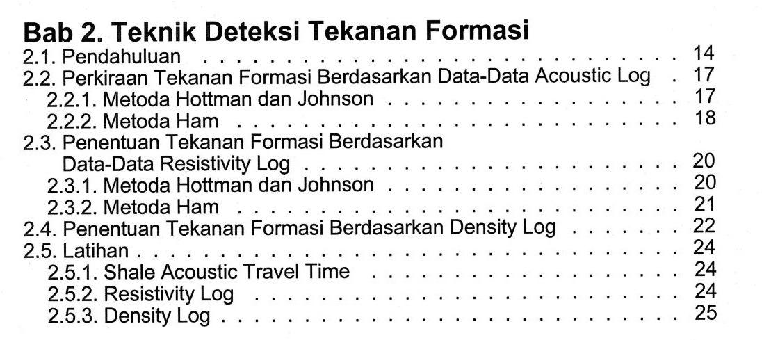 Bab 2 Buku Perancangan Pemboran Karya Dr. Ing. Ir. Rudi Rubiandini R.S. Penerbit ITB Press