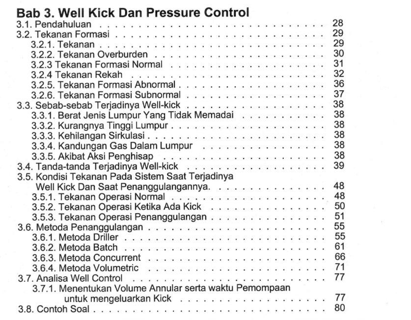 Bab 3 Buku Perancangan Pemboran Karya Dr. Ing. Ir. Rudi Rubiandini R.S. Penerbit ITB Press