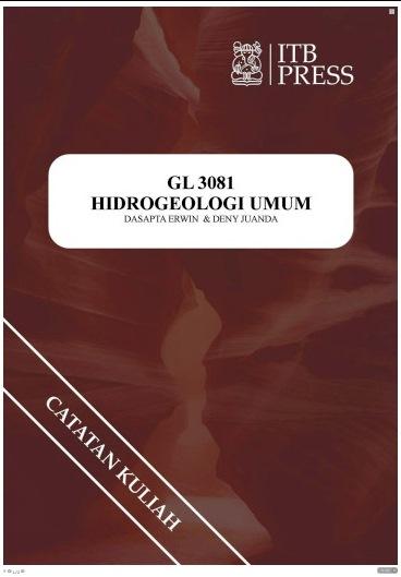 Buku Hidrogeologi Umum Dasapta Erwin Irawan dan Deny Juanda Puradimaja Penerbit ITB Press