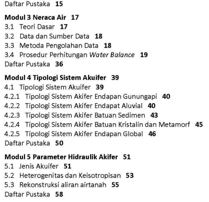 Daftar Isi Buku Hidrogeologi Umum Dasapta Erwin Irawan dan Deny Juanda Puradimaja Penerbit ITB Press